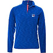 Levelwear Men's New York Rangers Mobility Navy Quarter-Zip Shirt