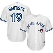 Majestic Men's Replica Toronto Blue Jays Jose Bautista #19 Cool Base Home White Jersey