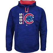 Majestic Men's Chicago Cubs Therma Base On-Field Royal Authentic Collection Pullover Hoodie
