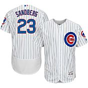 Majestic Men's Authentic Chicago Cubs Ryne Sandberg #23 Home White Flex Base On-Field Jersey