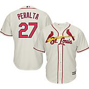 Majestic Men's Replica St. Louis Cardinals Jhonny Peralta #27 Cool Base Alternate Ivory Jersey