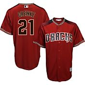 Majestic Men's Replica Arizona Diamondbacks Zack Greinke #21 Cool Base Alternate Red Jersey