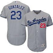 Majestic Men's Authentic Los Angeles Dodgers Adrian Gonzalez #23 Road Grey Flex Base On-Field Jersey