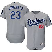 Majestic Men's Authentic Los Angeles Dodgers Adrian Gonzalez #23 Alternate Road Grey Flex Base On-Field Jersey