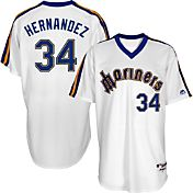 Majestic Men's Seattle Mariners Felix Hernandez #34 White Turn Back The Clock Authentic Flex Base Jersey