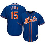 Majestic Men's Replica New York Mets Tim Tebow #15 Cool Base Alternate Royal Jersey