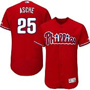 Majestic Men's Authentic Philadelphia Phillies Cody Asche #25 Alternate Red Flex Base On-Field Jersey