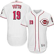 Majestic Men's Authentic Cincinnati Reds Joey Votto #19 Home White Flex Base On-Field Jersey