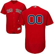 Majestic Men's Full Roster Authentic Boston Red Sox Flex Base Alternate Red On-Field Jersey