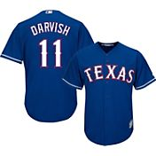 Majestic Men's Replica Texas Rangers Yu Darvish #11 Cool Base Alternate Royal Jersey
