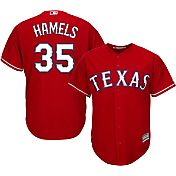 Majestic Men's Replica Texas Rangers Cole Hamels #35 Cool Base Alternate Red Jersey