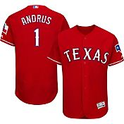 Majestic Men's Authentic Texas Rangers Elvis Andrus #1 Alternate Red Flex Base On-Field Jersey