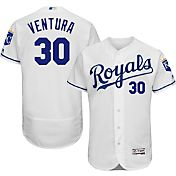 Majestic Men's Authentic Kansas City Royals Yordano Ventura #30 Home White Flex Base On-Field Jersey