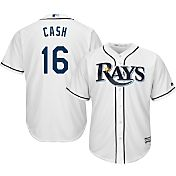 Majestic Men's Replica Tampa Bay Rays Kevin Cash #16 Cool Base Home White Jersey