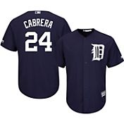 Majestic Men's Replica Detroit Tigers Miguel Cabrera #24 Cool Base Alternate Navy Jersey