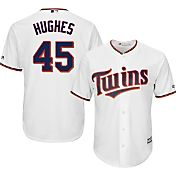 Majestic Men's Replica Minnesota Twins Phil Hughes #45 Cool Base Home White Jersey