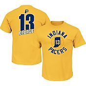 Majestic Men's Indiana Pacers Paul George #13 Gold T-Shirt