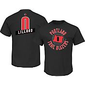 Majestic Men's Portland Trail Blazers Damian Lillard #0 Red T-Shirt