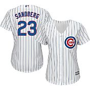 Majestic Women's Replica Chicago Cubs Ryne Sandberg #23 Cool Base Home White Jersey