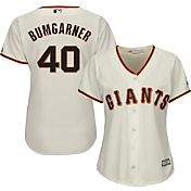 Majestic Women's Replica San Francisco Giants Madison Bumgarner #40 Cool Base Home Ivory Jersey