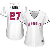 Majestic Women's Replica Los Angeles Angels Mike Trout #27 2016 Mother's Day Cool Base Home White Jersey