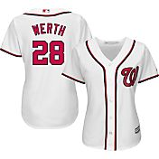 Majestic Women's Replica Washington Nationals Jayson Werth #28 Cool Base Home White Jersey