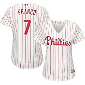 Majestic Women's Replica Philadelphia Phillies Maikel Franco #7 Cool Base Home White Jersey