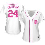 Majestic Women's Replica Detroit Tigers Miguel Cabrera #24 2016 Mother's Day Cool Base Home White Jersey