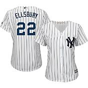 Majestic Women's Replica New York Yankees Jacoby Ellsbury #22 Cool Base Home White Jersey