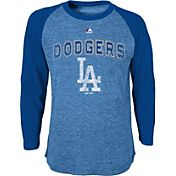 Majestic Youth Los Angeles Dodgers Royal Raglan Long Sleeve Shirt