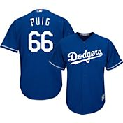 Majestic Youth Replica Los Angeles Dodgers Yasiel Puig #66 Cool Base Alternate Royal Jersey