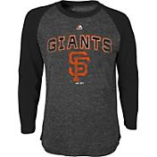 Majestic Youth San Francisco Giants Black Raglan Long Sleeve Shirt