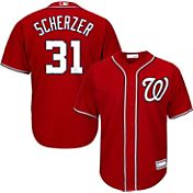 Majestic Youth Replica Washington Nationals Max Scherzer #31 Cool Base Alternate Red Jersey