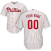 Majestic Youth Custom Cool Base Replica Philadelphia Phillies Home White Jersey