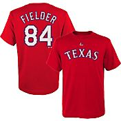 Majestic Youth Texas Rangers Prince Fielder #84 Red T-Shirt