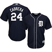 Majestic Youth Replica Detroit Tigers Miguel Cabrera #24 Cool Base Alternate Navy Jersey