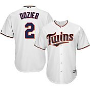 Majestic Youth Replica Minnesota Twins Brian Dozier #2 Cool Base Home White Jersey
