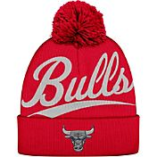 Mitchell & Ness Men's Chicago Bulls Script Red Knit Hat