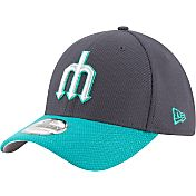 New Era Men's Seattle Mariners 39Thirty Diamond Era Navy Flex Hat