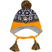 New Era Men's Buffalo Sabres Stay Toasty Navy/Gold Peruvian Knit Hat