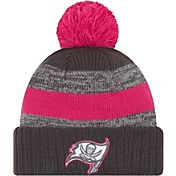 New Era Women's Tampa Bay Buccaneers Breast Cancer Awareness 2016 Pink Pom Knit