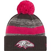 New Era Women's Baltimore Ravens Breast Cancer Awareness 2016 Pink Pom Knit