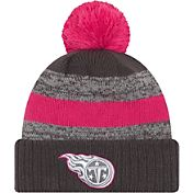 New Era Women's Tennessee Titans Breast Cancer Awareness 2016 Pink Pom Knit