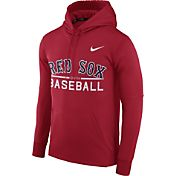 Nike Men's Boston Red Sox Dri-FIT Red Therma Pullover Hoodie