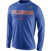 Nike Men's Florida Gators Blue Football Practice Long Sleeve Shirt