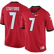 Nike Men's Matthew Stafford Georgia Bulldogs #7 Red Replica College Alumni Jersey
