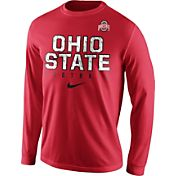 Nike Men's Ohio State Buckeyes Scarlet Football Practice Long Sleeve Shirt