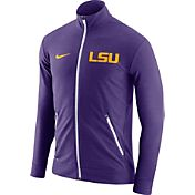 Nike Men's LSU Tigers Purple Elite Players Dri-FIT Touch Full-Zip Jacket