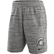 Nike Men's Michigan State Spartans Heathered Grey Fleece Basketball Shorts
