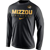Nike Men's Missouri Tigers Football Practice Black Long Sleeve Shirt